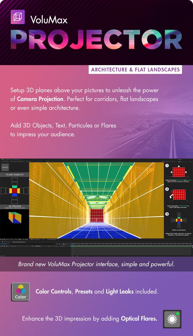 پروژه افترافکت متحرک و 3بعدی سازی عکس VoluMax - 3D Photo Animator V6